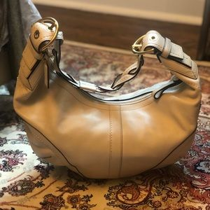 Coach White Leather Braided Strap Hobo #10044